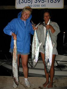 Bobby, Lisa & Sue's Yellowtail Snapper, Lizard Fish, Squirrel Fish & King Mackerel Trip